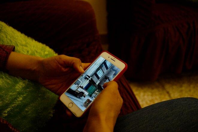 Farah a gardé dans son téléphone les images qui prouvent les calvaires endurés comme l'immeuble où elle a été séquestrée, violée, pendant des mois. © Rachida El Azzouzi