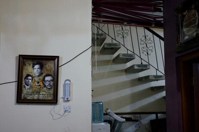 Portrait du père et des oncles d'Amal, exécutés sous Saddam Hussein. © Rachida El Azzouzi