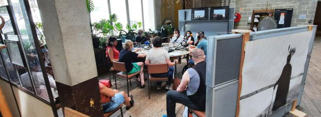 émission radio aux Rencontres Encore Heureux © JfN