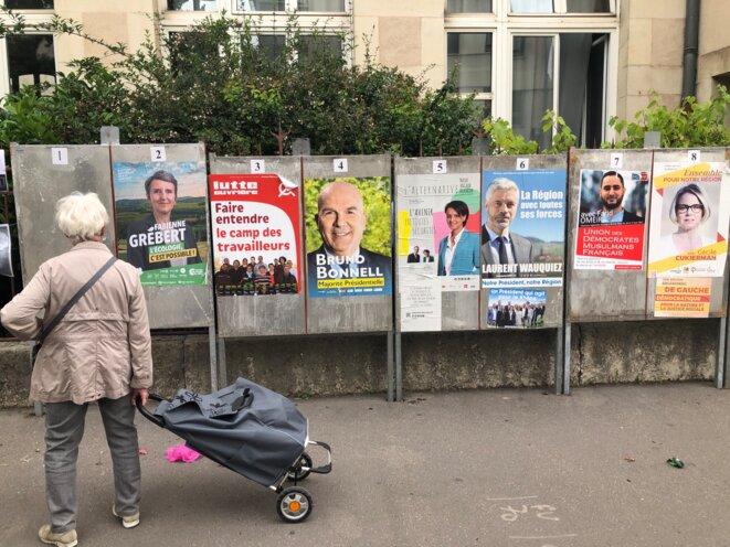 Panneaux de campagne dans le 3e arrondissement de Lyon © FE