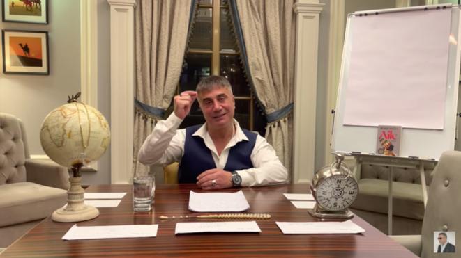 Image extraite de la vidéo diffusée le 30 mai par Sedat Peker sur YouTube. © Sedat Peker / YouTube
