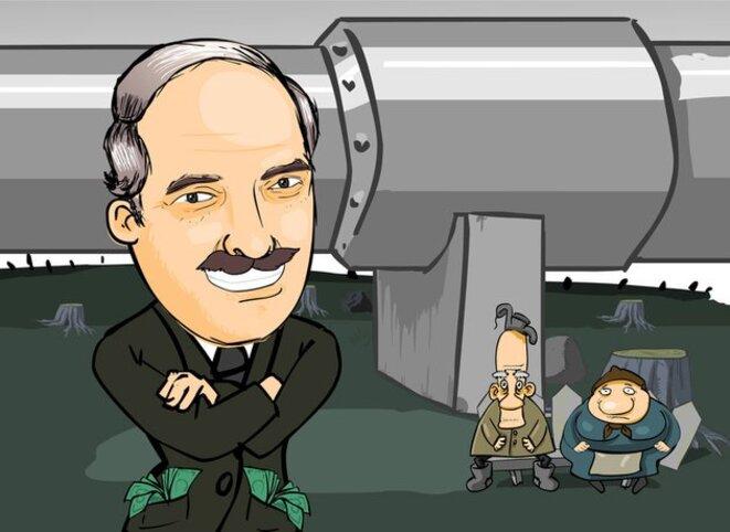 Image satirique tirée d'un cartoon réalisé par des dissidents.