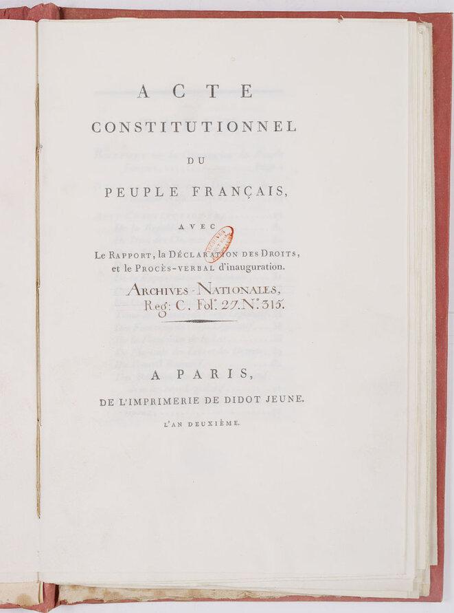 Constitution du 6 mesidor An I
