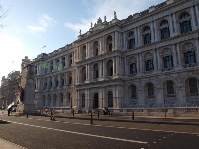 Le Ministère des Affaires Étrangères et du Commonwealth, Whitehall, Londres.
