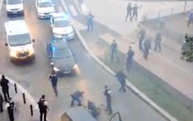 Une vidéo montrant une violente opération de police à la Plaine Saint-Denis, le 4 juin. © Capture d'écran