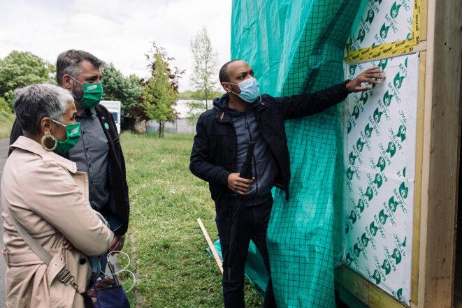 Benjamin Bajal de « Ma petite maison verte », société d'insertion qui propose des habitations écoresponsables © Philippe Labrosse