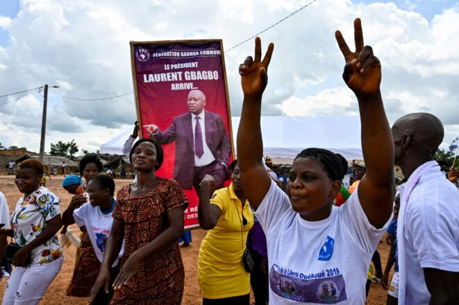 Des supporters de Laurent Gbagbo le 13 juin 2021. © Sia Kambou/AFP