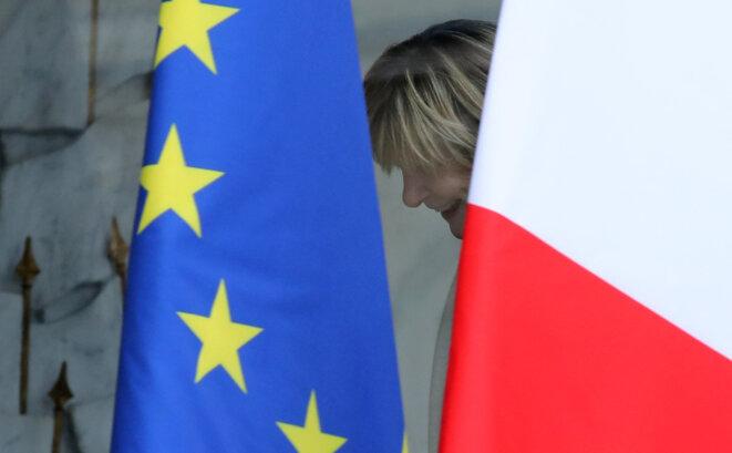 Michèle Marchand à l'Élysée, en novembre 2017. © Ludovic Marin/AFP