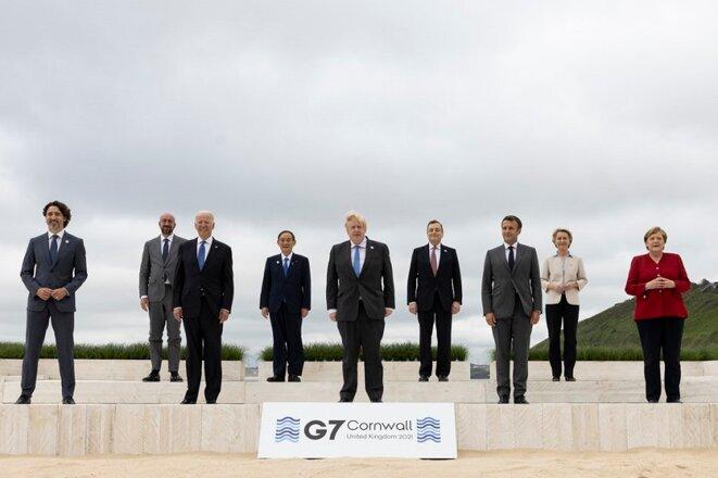 Sommet des dirigeants du G7 en Cornouailles, au Royaume-Uni, 11 juin 2021 © (Photo : Simon Dawson / No10 Downing Stre)