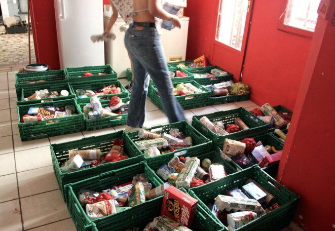Le Casa distribue des colis alimentaires et environ 70 repas par semaine. © E. R.
