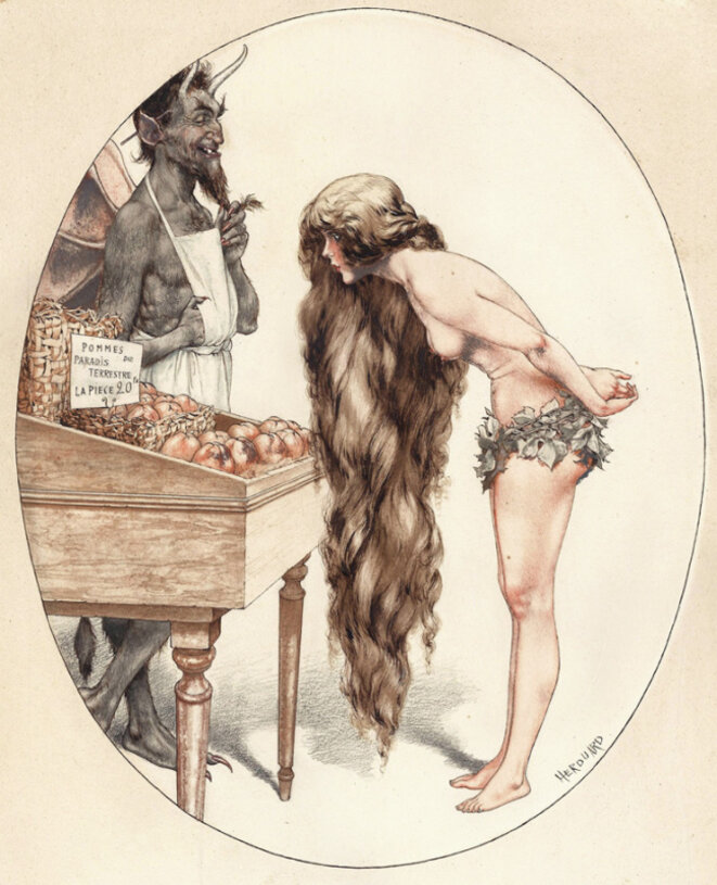 La tentation d'Eve © Cheri Herouard / Gallica / BNF