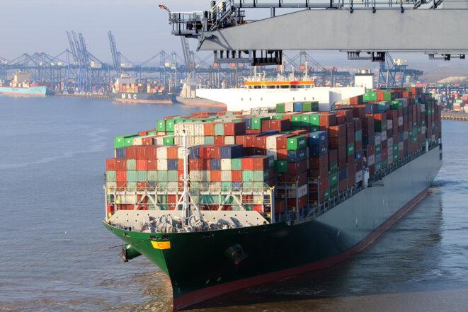 Le fret maritime rejette 3 % des émissions de CO₂ mondiales. © IMO