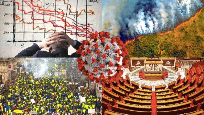 En 2020 tous les crises se sont cristallisées : écologiques, sanitaires, économiques, sociales et démocratiques © Lucas Rochette-Berlon