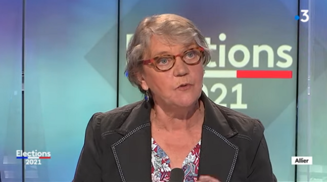 Marie-Françoise Lacarin, cheffe de file des communistes bourbonnais∙e∙s.