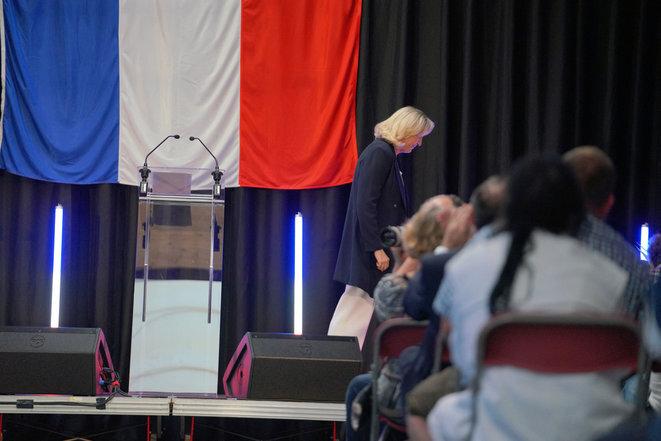 Discurso de Marine Le Pen el domingo 20 de junio de 2021. © Hans Lucas vía AFP