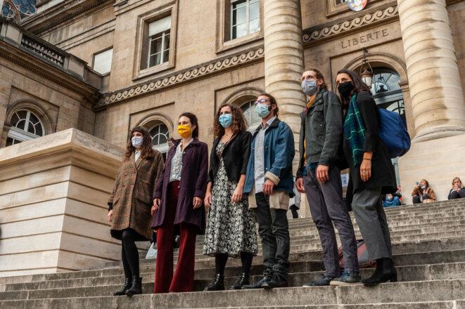 Procès en appel des décrocheur·ses de Paris le 22 octobre 2020 © Baptiste Soubra collectif La Faille