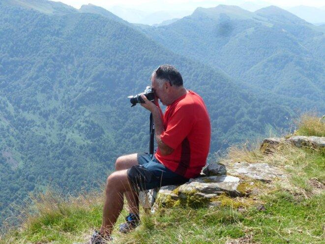 Thierry en haut de l'Irubelakaskoa photographie la Navarre, son autre pays !