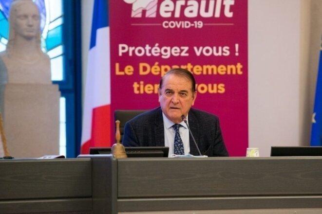 Kléber Mesquida, au conseil départemental de l'Hérault. © Compte Facebook du CD 34.