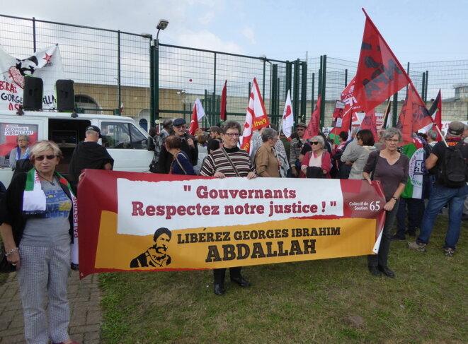 Manifestation de soutien à Abdallah en octobre 2018 © Jean-François Courtille