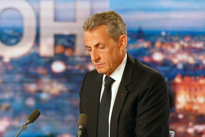 Nicolas Sarkozy au 20h de TF1 le 3 mars 2021. © Ludovic MARIN / AFP