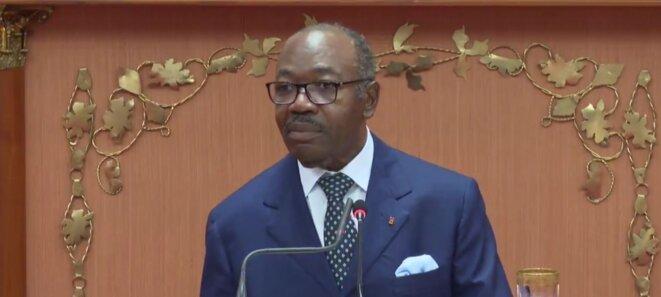 Ali Bongo Ondimba -Palais Léon Mba, devant les députés et sénateurs ce vendredi 25 juin 2021