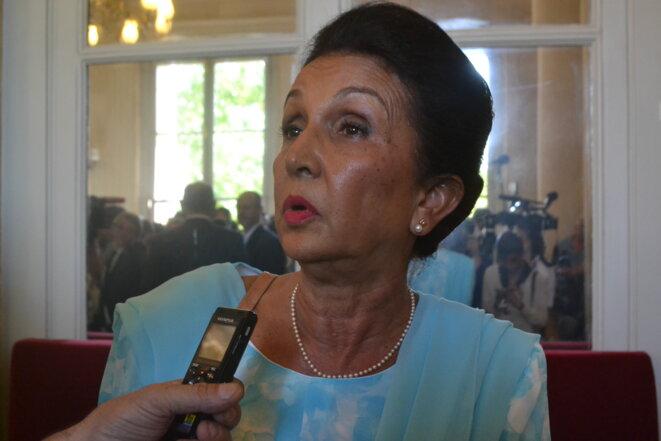 Huguette Bello, à l'Assemblée nationale, en 2017 © JS