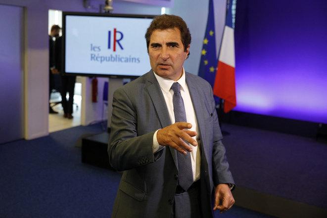 Christian Jacob, presidente de LR. © Geoffrey van der Hasselt/AFP
