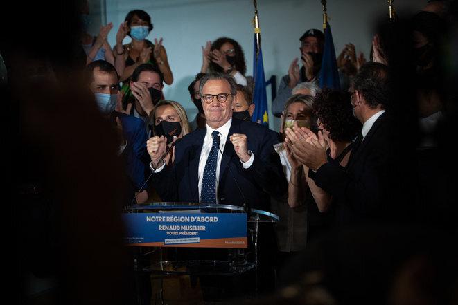 Renaud Muselier, le 27 juin. © Camille Dodet/Hans Lucas/AFP