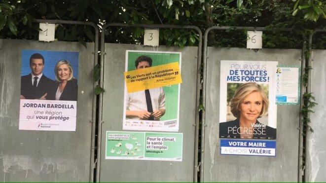 Un panneau électoral à Joinville-Le-Pont. © DR