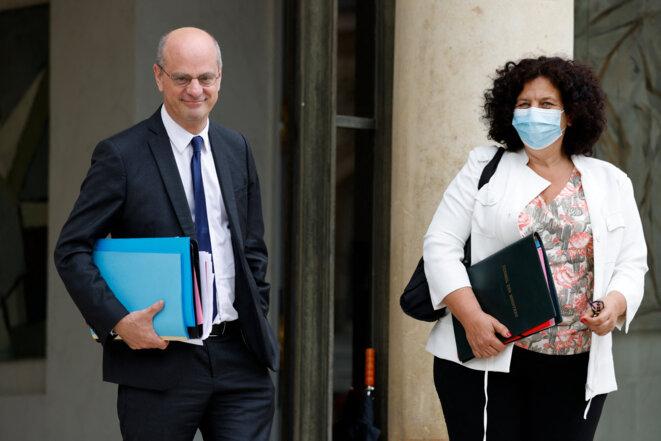 Frédérique Vidal et Jean-Michel Blanquer le 30 juin 2021. © Ludovic MARIN / AFP
