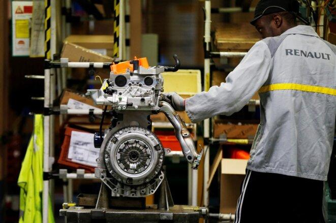 Dans l'usine Renault de Cléon, en 2017. © Charly Triballeau / AFP