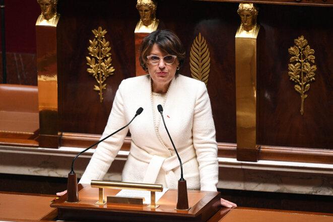 Annie Genevard à l'Assemblée nationale. © Thomas Viniere / AFP