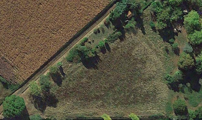 La parcelle qui sera restaurée et reboisée pour le projet des bois-jardins de l'Invisible à Lahitte-Toupière