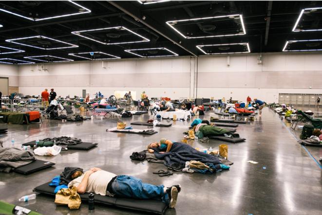 «Centre de rafraîchissement» à Portland (Oregon), à l'ouest des États-Unis, le 29 juin 2021. (Kathryn Elsesser/AFP).