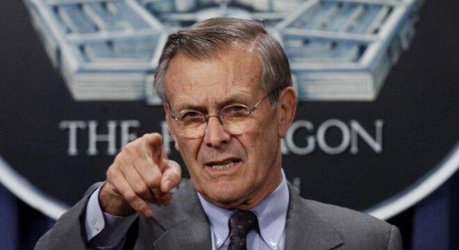 Donald Rumsfeld le 8 octobre 2001 à Washington. © Uke Frazza/AFP