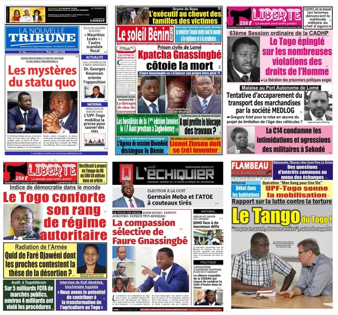 A la une de la presse togolaise et africaine, les droits de l'homme et le cas Kpatcha Gnassingbe
