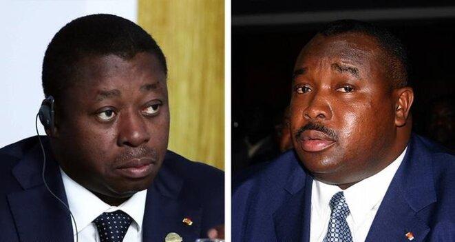 Le président de la république togolaise, Faure Gnassingbé, et son frère Kpatcha Gnassingbé, détenu depuis 2009, dans l'affaire dite de Complot contre la sûreté de l'Etat