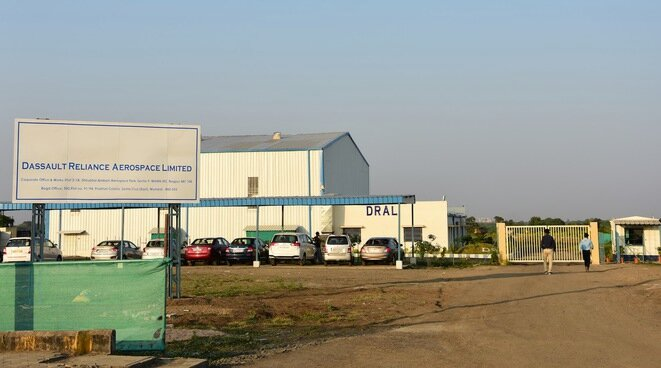 The Nagpur site of the 'Dassault Reliance Aerospace Limited' joint venture plant in October 2018. © Monica Chaturvedi