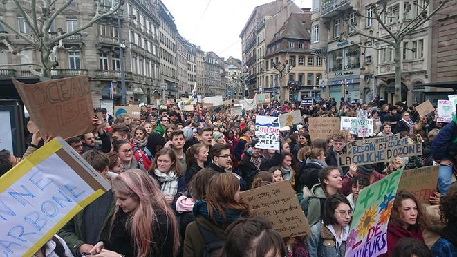 Grève scolaire pour le climat du 15 mars 2019 à Strasbourg. © Olivier Marchand