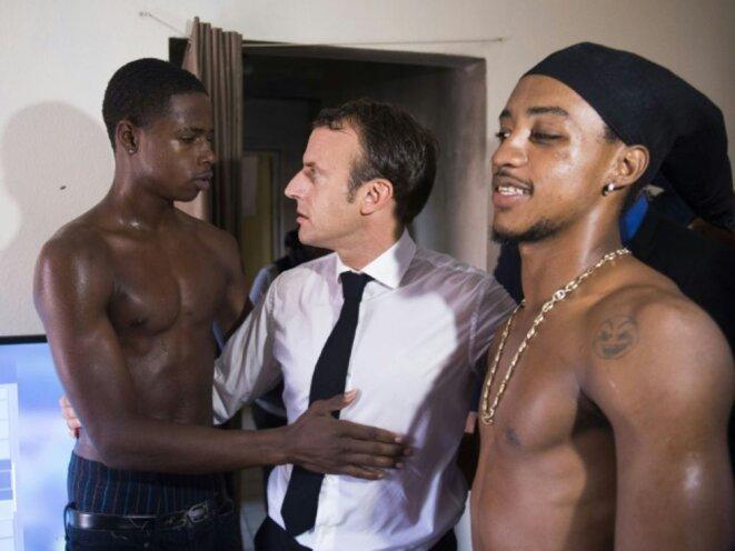 Emmanuel Macron à Saint-Martin en septembre 2018. © Eliot Blondet / AFP