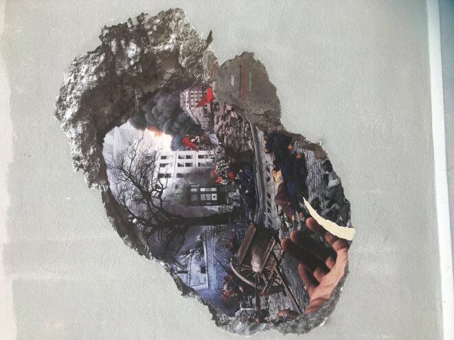 Rêve d'un mur de la Butte-aux-Cailles à Paris © JNC