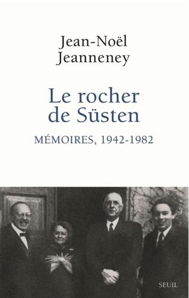 La Boisserie, 30 décembre 1969. De gauche à droite : Jean-Marcel Jeanneney, Yvonne de Gaulle, Charles de Gaulle, Jean-Noël Jeanneney (© capture d'écran du site du Seuil)