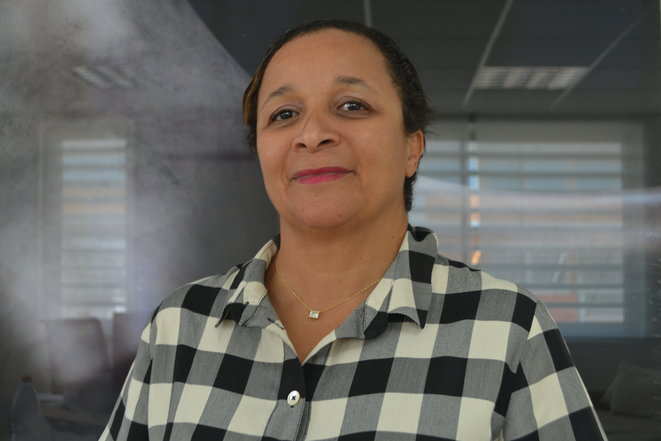 Lawyer Maryse Coppet campaigns against the modern consequences of the colonial economy in Pointe-à-Pitre, Guadeloupe, and Brussels. © JS
