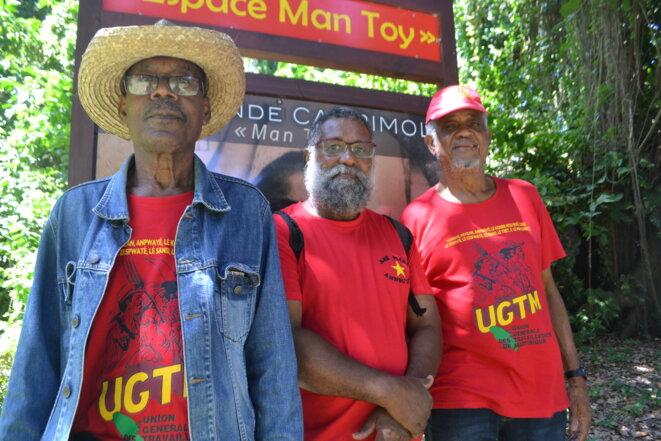 Chaque année, les militants du syndicat de l'Union générale des travailleurs martiniquais (UGTM) commémorent le « massacre de la Saint-Valentin » à Chalvet. © JS