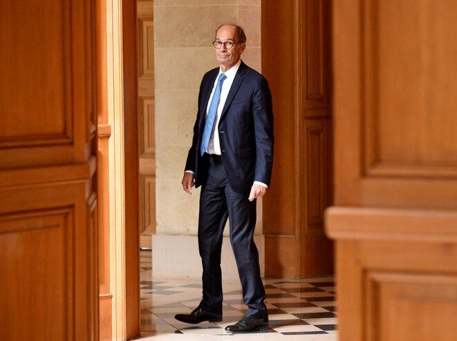 Eric Woerth dans les couloirs de l'Assemblée nationale, en 2019. © Éric Piermont / AFP