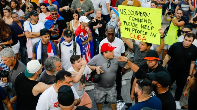 Manifestation de soutien à Miami – Photo Eva Marie UZCATEGUI / AFP