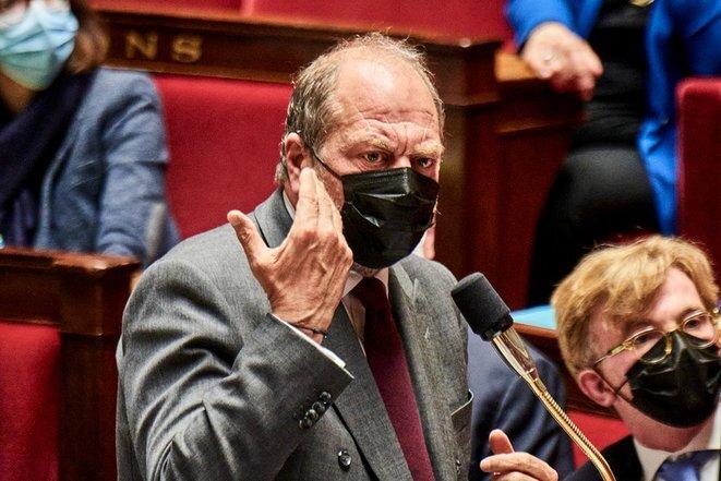 Éric Dupond-Moretti à l'Assemblée nationale, le 4 mai. © Antonin Burat/Hans Lucas via AFP