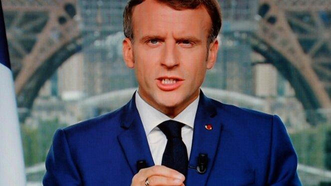 Emmanuel Macron, allocution du 12 juillet [capture d'écran, AFP]