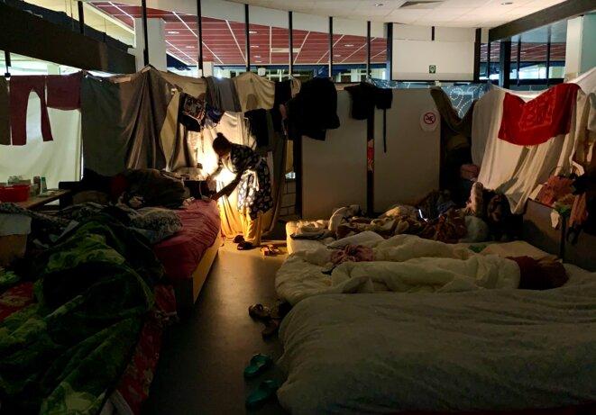 26 femmes font partie des grévistes de l'ULB et ne veulent rien lâcher malgré les difficultés. © NB