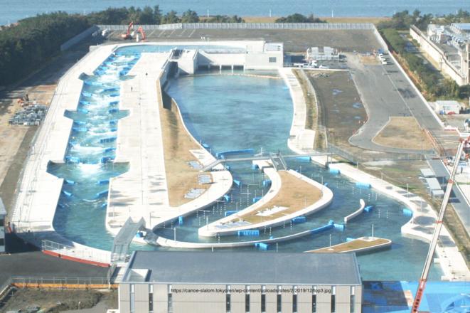 """Le""""Kasai Canoe Slalom Center"""" en eau © Canoe slalom centre"""